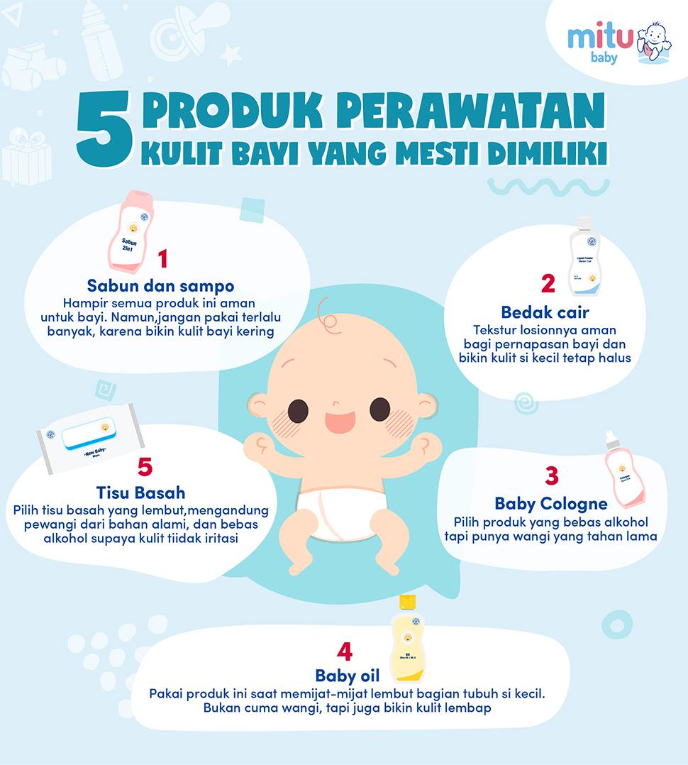 5 Produk Perawatan Kulit Bayi Yang Mesti Dimiliki
