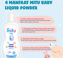 4 Manfaat Mitu Baby Liquid Powder